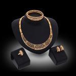 Quality Cheap alloy dubai imitation gold jewellery wholesale price wedding jewelry set for sale