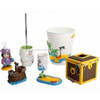 Quality 7pcs polyresin kids bathroom accessories for sale