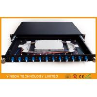 China 1U 19 Inch Sliding Rack Mount Fiber Optic Patch Panel 12 Port LC Duplex on sale