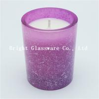 Quality high quality glass candle holder with thick wall and wax pouring for christmas decoration for sale