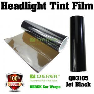 Quality Car Headlight Tint Film 3 layers 0.3*10m/roll - Jet Black for sale