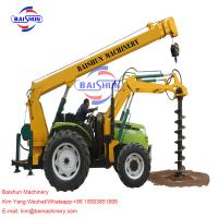 Quality Tractor Crane Pole Erection Machine For Power Transmission 100-2000MM for sale