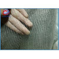 Quality Crimped Knitted Wire Mesh / Gas Liquid Filter Wire Mesh Demister For Air Cleaner for sale