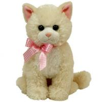 Quality Sitting Pose off-white Cat Plush Toys for sale