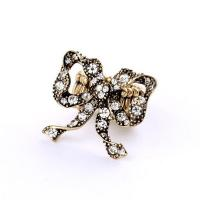 Best Fashion jewelry rhinestone bowknot adjustable ring rubber band adjustable ring wholesale