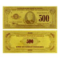 Best Double logo plated gold foil banknote wholesale