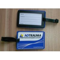 Quality Brand Promotion Soft PVC Luggage Tag With 2D Embossed Colored Logo Customized for sale