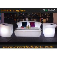 Best Multi Color Led Furniture Led Sofa Set With Remote Controller For Club , Bar wholesale