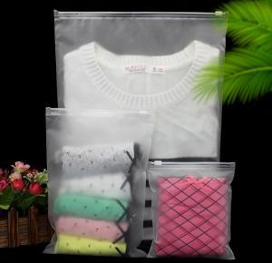 Quality high quality custom printed cloths matte cheap wholesale clear PVC zipper bag for sale