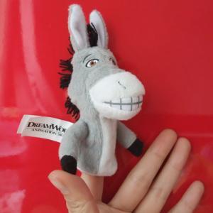 Quality Donkey Shrek's Friend Finger Puppet Plush Toys for sale