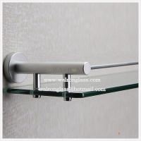 Best Pencil Edge Clear Tempered/Toughened Glass for Bathroom Shelf wholesale