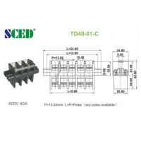 Quality Feed Through PBT Screw Terminal Block Connector 600V 40A  13.00mm for sale