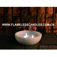China CE / ROHS Flameless LED Pillar Candles , Real  Wax  Floating LED Candle With 3 LEDs on sale