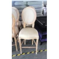 Quality vintage french style wooden chair classic solid wood bistro high back bar chairs for sale