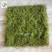 Quality UVG 30cm micro soft artificial grass mat with nylon moss for beach wedding decor GRS042 for sale