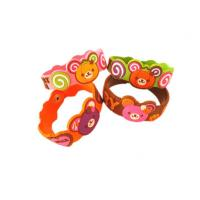 Quality Cartoon / Sport Designs Soft PVC Custom Event Wristbands For Promotional Gifts for sale