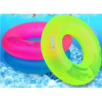 Quality Fluorescent Inflatable Swim Ring Comfortable 39 Inch Size With Safety Handle for sale
