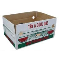 Quality Custom Vegetables Packing Boxes , Cardboard Fruit Boxes Offset / Flexo Printing for sale