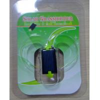 Best Green Plastic Solar Powered Gadgets Mini Grasshopper Educational Toy for Kids wholesale