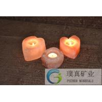 China Crafted candle holder himalayan natural stylish crystal fancy Rock Salt Lamps on sale