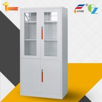 Quality Metal storage cupboard FYD-W012:H1850XW900XD400mm, KD,glass and steel swing door, KD structure for sale