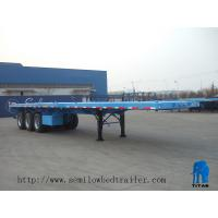 China Tri axle container flatbed trailer for sale | TITAN VEHICLE on sale