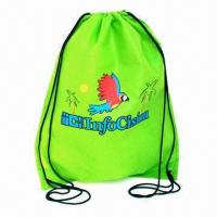 Quality Promotional Drawstring Bag, Nonwoven Fabric, Various Colors are Available, OEM Orders are Welcome for sale