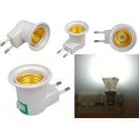 China E27 Base Socket EU Plug Night Light With Power On-off Control Switch wall E27 fixture with Insert wall type on sale