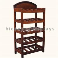 Best Custom Size Retail Shop Wine Display Shelf Wooden For Advertising Whiskey wholesale