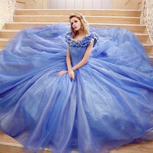 China Princess Dress Wholesale Custom Made Princess Cinderella Wedding Dress Cosplay For Wedding Party on sale