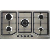 Quality Super Flame Home Gas Stove , Five Burner Gas Cooker AC / Battery Ignition Type for sale