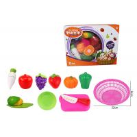 Quality 12 Pcs Pretend Role Play Children's Play Toys for Kitchen Fruit Vegetable Cutting for sale
