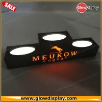 Quality customized illuminated black acrylic MEUKOW Cognac wine led bottle glorifier for sale