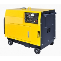 China Air Cooled 6KVA 148kg Diesel Portable Generator For Home Use for sale