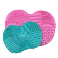 China Easy Cleaning Silicone Makeup Tool Mat Anti - Oxidation With Suction Cup on sale