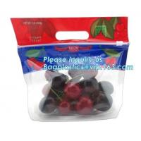 Quality Food service grape packing bag with slider/Red grapes packing bag/Plastic fruit bag, bag for fruit and vegetable package for sale