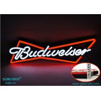 Best Budweiser Non-glass Custom Neon Signs , Outdoor Hanging Type Waterproof Sign wholesale