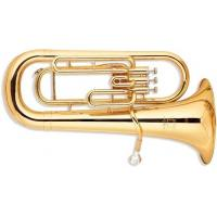 Quality 3 Valves Brass Musical Instrument , Gold Lacquer Bb Key Euphonium With 13.4mm Bell for sale