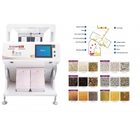 China 2.0KW Voltage 220V/50HZ CCD Color Sorting Machine For Bean With Production Capacity 2 Ton Per Hour for sale