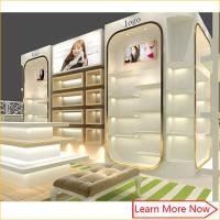 China Modern high end fashion shoe store display case/shoe wall display on sale