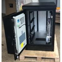 Quality Single Wall Heat Insulated Galvanized Steel Outdoor Telecom Cabinet  With Air Conditioner Cooling for sale