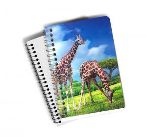 Quality Promotion 0.6mm PET Lenticular Animal Notebook Covers With 3D Deep Effect for sale