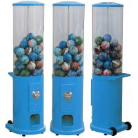 China Metal Base Coin Operated Gumball Machine 44*38*146CM Customized Color on sale