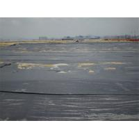 Quality Polypropylene Woven Geotextile Fabric 80 / 70 KN Circle Loom For Foundation Building for sale