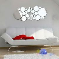 Best Eco-friendly 40 * 60cm Removable CM-144 Bubble Shaped Wall Mirror Sticker wholesale