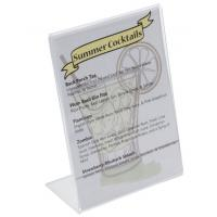 China L - style clear and transparent Acrylic Sign Holder for Tabletops / display stand on sale
