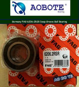 Quality Deep Groove FAG Roller Ball Bearings Single Row 6206-2RSR OEM ODM for sale