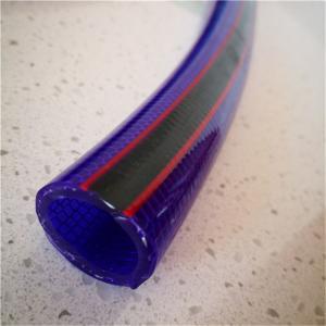 Quality customize logo braid weather resistance vinyl textile fiber reinforced pvc hose for sale