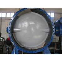 Quality Automatic Double Flanged Butterfly Valves Flanged Resilient Sealing DN2000 for sale
