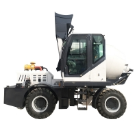 Quality self loading concrete mixer truck H2500A (2.5 m³, articulated chassis) for sale
